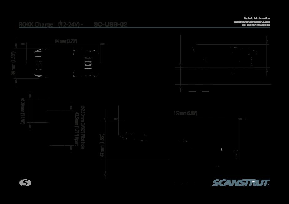 SC-USB-02 Technical Drawing